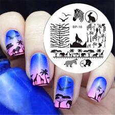 1Pc BORN PRETTY Nail Art Image Stamping Plates Stencil Zebra Wolf Pattern BP16
