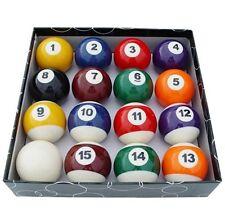 """NEW Set of 16 Miniature Small Mini Pool Balls Billiards 1-1/2"""" Tiny Pocket Sized"""