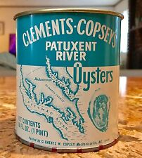 PATUXENT RIVER OYSTER TIN CAN PINT VTG NAUTICAL BAY MECHANICSVILLE Southern MD