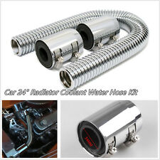 "Car Off-Road 24"" Silver Stainless Steel Radiator Coolant Water Hose & Cover Kit"