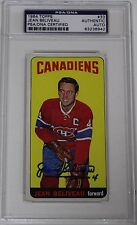 JEAN BELIVEAU SIGNED 1964 TOPPS HOCKEY CARD #33 PSA/DNA AUTHENTICATED CANADIENS