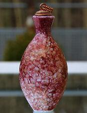Seltenes Schnupftabakglas - Bixl - Schnupftabakflasche !!! Marmoriert !!! Nr.31