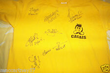 LOT 2 MAILLOTS FOOT BALL DEDICACER EQUIPE CRUFC CALAIS