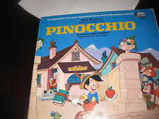 Story and Songs From Walt Disney's Pinocchio Record and  color book