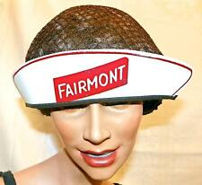 Vintage 1940S-50s FAIRMONT Dairy ADV UNIFORM HAT with Hairnet