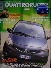 Quattroruote 598 2005 Fiat Punto le foto, i giudizi. Mazda MX5. Audi A6 Q.66