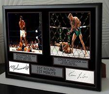 """Ali &  Mcgregor signed  framed Canvas """"1st round 1st minute """" tribute"""