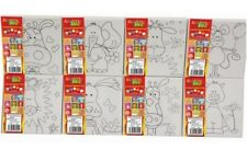 Kids Canvas And Paint Art Set Pre Printed Pictures Creative Toy Children New