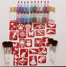 Maybel's Large Glitter Tattoo Kit for Fundraisers and Large Event - 420 stencils
