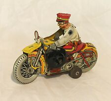 Antique Tin litho windup Motorcycle and Policeman – Marx