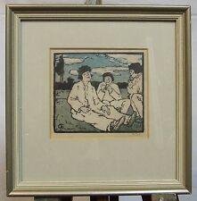 Emil Orlik 4 original woodcuts from Small Woodcuts Kleine Holzschnitte 1920