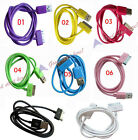 1 X Deluxe Colored Sync USB Data Cable & Charger Cord For Iphone 3G 3GS 4G Ipod