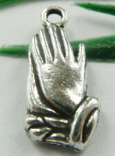 Wholesale free ship 100pcs tibet silver Pray hand charms 19x8mm