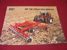 Massey Ferguson 730 Offset Disc Harrow Dealer's Brochure 830AG 679/25-1