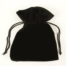 10 BLACK VELVET gioielli con cordino REGALO BUSTE 7cm x 9cm