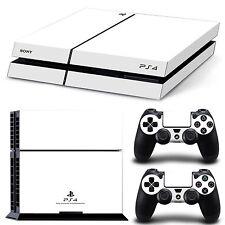 Sony PS4 Skin Design Playstation 4 PS4 Schutzfolie Set Aufkleber Sticker WEIß