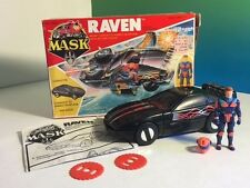 VINTAGE M.A.S.K. 1986 KENNER MASK TOY VEHICLE BOX RAVEN CORVETTE CALHOUN BURNS