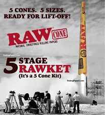 """RAW FIVE STAGE """"RAWket"""" READY FOR LIFT OFF! FIVE CONE KIT 5 SIZES Rolling papers"""