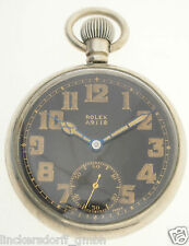 Rolex broad arrow a.9118 g. s. Mk. II-military pocket watch-WWII 2 Guerra Mundial