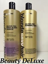 Blonde SexySulfate-Free Bright Blonde Shampoo&Conditioner33.8Oz *FREE BRUSH