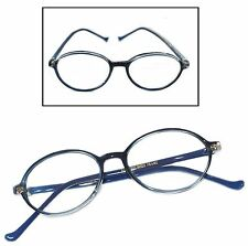 Aggie Classic Vintage Style Reading Glasses Polished Oval Blue Frame +1.00 Lens