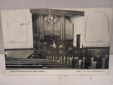 Attica Ind Indiana, interior Presbyterian Church,early postcard 1911