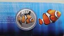 2010 Australia 50 Cents Clown Fish Silver Proof coin in OGP