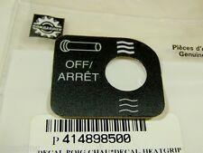 NOS BOMBARDIER HEAT GRIP DECAL 414898500