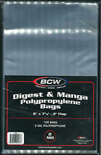 100 BCW Manga or Readers Digest Poly Bags