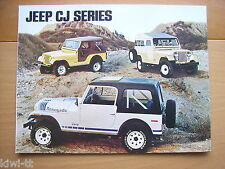JEEP CJ-Series (cj-5, cj-6, cj-7) Prospetto/brochure/DEPLIANT, D, 1979?