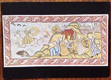 Postcard Old Embroidered Cushion Cover Hardwick Hall, Derbyshire Europa & Bull