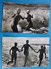 2 CARTOLINE ARTISTICHE - ONDINE NUDE - ANNI '60