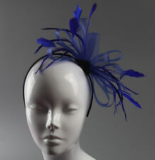 Net Hoops Feather Headband Fascinator Wedding Ascot Hairband Alice Band Races