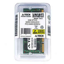 Atech 2GB SoDimm PC2-6400 6400 DDR2 DDR-2 800mhz 800 Laptop 200-pin Memory RAM