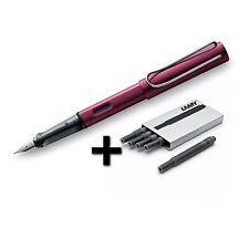 Lamy AL-Star Fountain Pen (29F) Black Purple + 5 Black Ink Cartridges