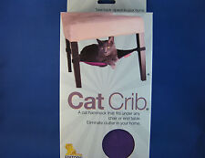 Cat Bed - Cat Crib PURPLE - Cat Hammock that fits under any chair or end table