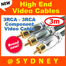 High-end NEOTECH Origin 3m 3RCA - 3RCA Component Video Cable-24k Gold Connectors