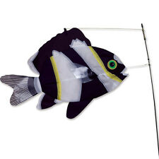 Flying Black & White Fish Wind Sock Yard Stake Large 21""