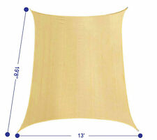 "13'X19'8"" Rectangle UV Block Sun Shade Sail Outdoor Canopy Patio Lawn,Sand"