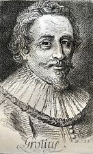 Hughes GROTIUS 1583 1645 GRAVURE PORTRAIT graveurs JC FRANçOIS BLANCHON