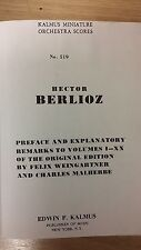 Berlioz: Orchestral Scores And Explanatory Notes: Music Score