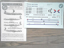 """L-188 ELECTRA """"PACIFIC WESTERN"""" WHISKEY JACK  DECALS 1/144"""