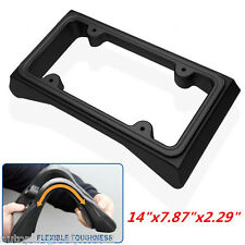 1x Heavy Duty Front Bumper Guard & License Plate Frame for Automobile Protection
