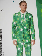 St Patricks Day Clover Suit Irish Costume Christmas Green Jacket Tie Pants Lrg