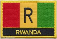 Rwanda 1962 to 2001 Flag Embroidered Patch Badge  Sew or Iron on