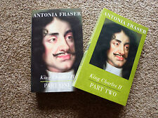 2 X BOOKS ANTONIA FRASER, KING CHARLES II,  PART ONE AND TWO, UNREAD, P/B