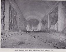 1957  --  ALGERIE MERS EL KEBIR  TRAVAUX SOUTERRAINS MARINE NATIONAL   3E730