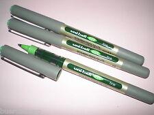3x Faber-Castell Uniball eye fine grasgrün 148166 UB-157 Tinten-Kugelschreiber