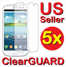 5x Clear LCD Screen Protector Guard Film For Samsung Galaxy S3 S III i9300 i9305
