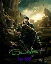 Tom Hiddleston Thor The Dark World SIGNED AUTOGRAPHED 10X8 REPRO PHOTO PRINT